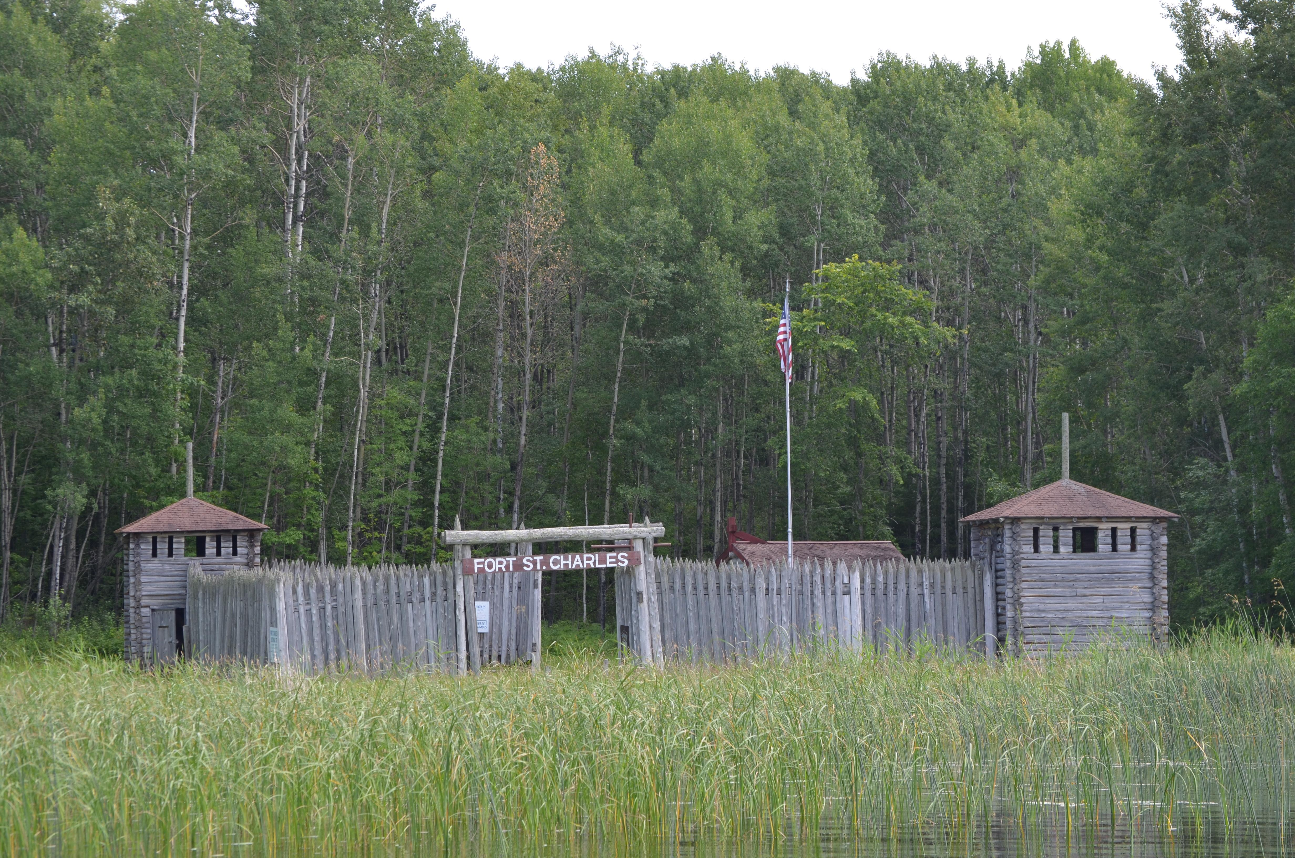 The history of fort st charles lake of the woods for Old wooden forts