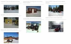 Snowmobile shelters, Lake of the Woods