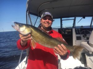 walleye on charter boat sportsmans lodge 060119